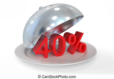 40 %,  sale and discount concept