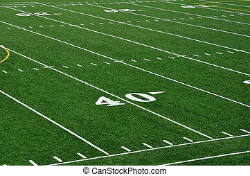 40 Yard Line on American Football Field - Forty Yard Line on...