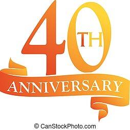 40 Year Ribbon Anniversary