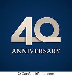 40 years anniversary paper number