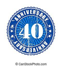 40 Years anniversary stamp.