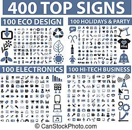 400, הציין, סימנים