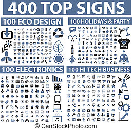 400, górny, znaki