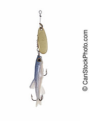 401 fishing bait - Fishing bait against white background