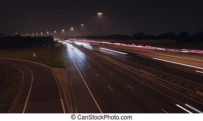 401 Lanes with onramp. - Timelapse of Hwy 401 in Toronto at...