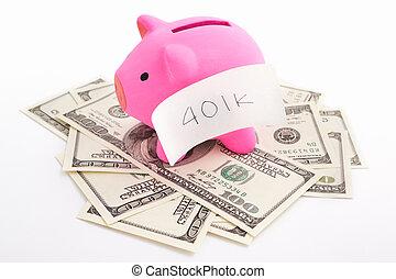 401k, dólar, hucha