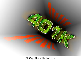 401k Down the Tubes - A conceptual illustration of a 401k ...