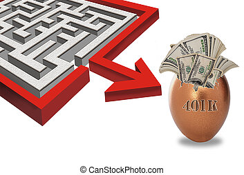 401k, laberinto, su, investments.