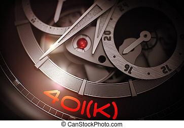 401k on Automatic Men Pocket Watch Mechanism. 3D. - 401k - ...