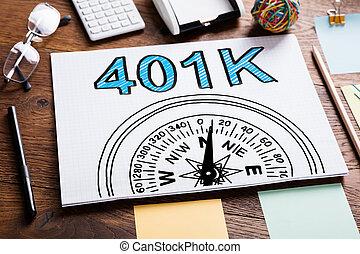 401k Pension Plan In Notebook