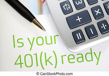 401k, plan, investering