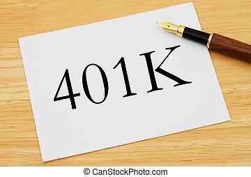 401k, planification