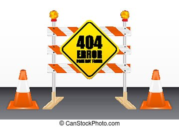404, 道, 間違い, ない, 見いだされた, 道具, ページ, ブロック