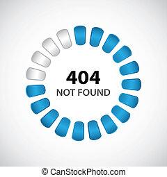 404, begriff, design, besondere, fehler