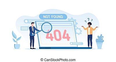 404 computer error - not found