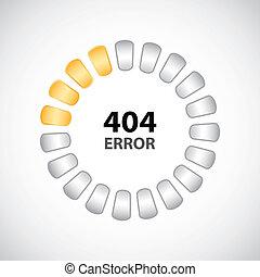 404, concepto, diseño, especial, error
