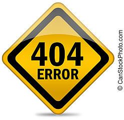 404, erro, sinal