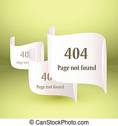 404 Error file not found on website page