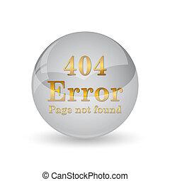 404 error icon. Internet button on white background.