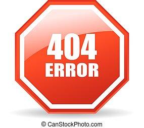 404, error, icono