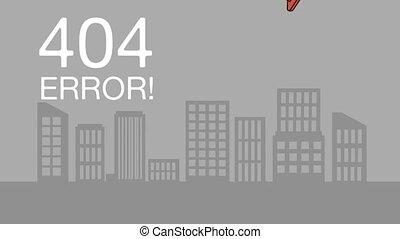 404 error network failure animation