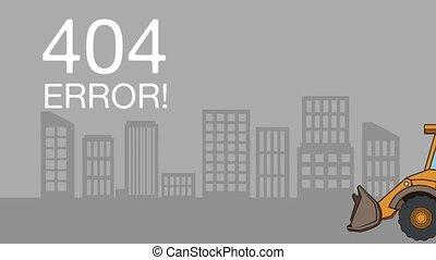 404 error network failure animation  illustration design