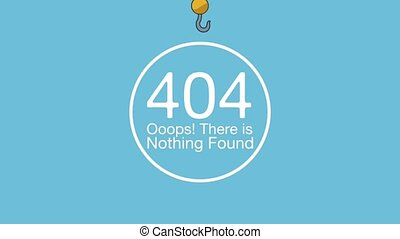 404 error network failure hanging hook crane animation...