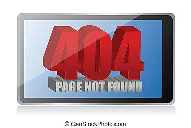 404 error on a tablet