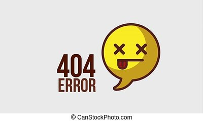 404 error page animation - 404 error page chat bubble with...