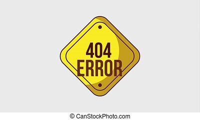 404 error page animation - 404 error page sign board hanging...