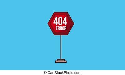 404 error page animation