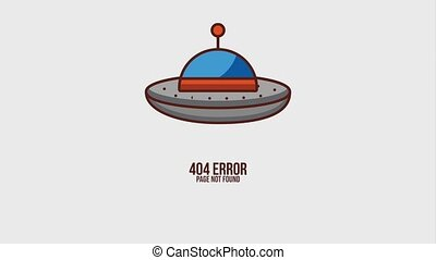404 error page animation hd - 404 error page not found ufo...