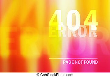 404 error page not found