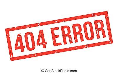 404 error rubber stamp