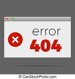 404  error window alert warning