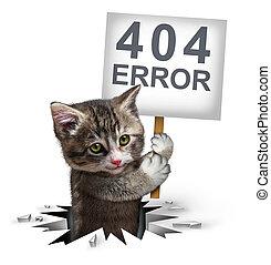 404 Error With A Kitten
