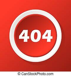 404 icon on red