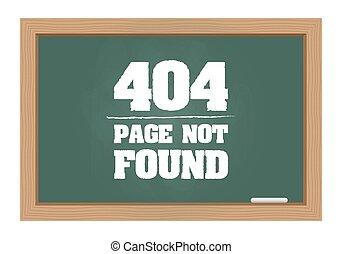 404, mensaje de error, en, pizarra