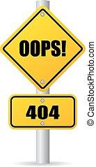 404, oops, sinal