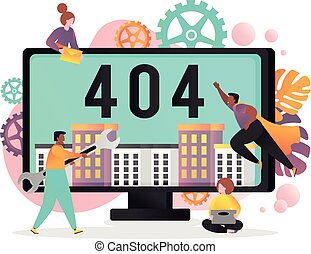 404 page not found error vector concept illustration