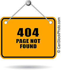 404 page not found sign