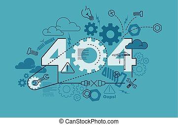 404 website banner design concept