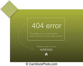 404 website error with text