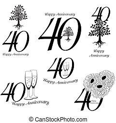 40th, 記念日, コレクション, サイン
