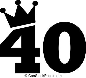 40th Birthday number crown