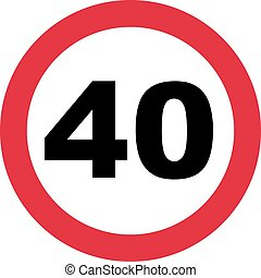 40th Birthday - traffic sign