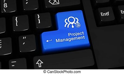 41. Project Management Rotation Motion On Computer Keyboard Button with Text and icon.