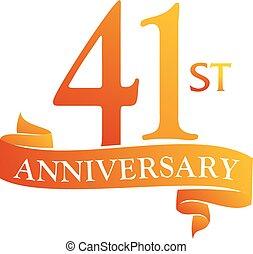 41 Year Ribbon Anniversary