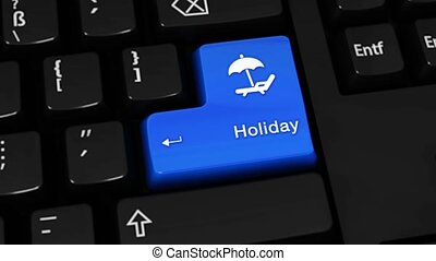 411. Holiday Rotation Motion On Computer Keyboard Button.