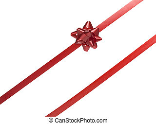 419 red gift bow